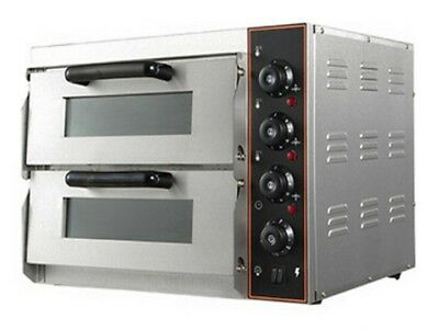 "NEW Commercial Pizza Oven Double Deck Electric Stone Base 2x16"" single phase"