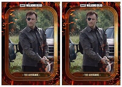2x BADASS MARATHON WAVE 3 THE GOVERNOR The Walking Dead Card Trader Digital