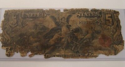 1896 $5 SILVER CERTIFICATE Educational Note LARGE SIZE CURRENCY - FR268 RARE