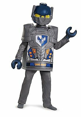 LEGO Disguise Clay Deluxe Nexo Knights Lego Costume, Blue/Grey (Large/10-12) NEW
