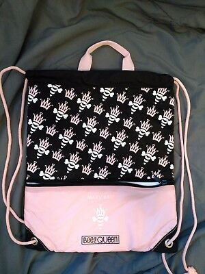 "Mary Kay Bee the Queen 12""x 15"" Insulated Drawstring Tote Bag w/ Backpack Straps"