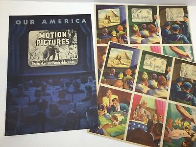 "Vintage Coca-Cola Bottling book Our American Motion Pictures"" with 2 sets cards"