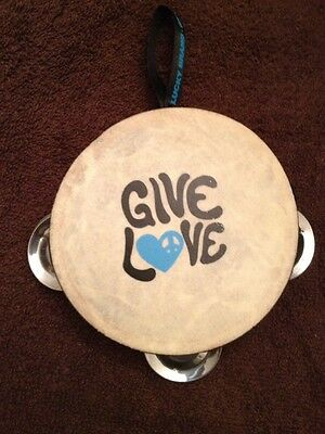 Vintage Lucky Brand Give Love Tambourine Very Good Used Condition