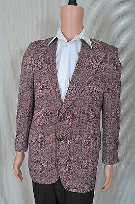 Vintage '60s/70s Triton of New England Hot Line loud red Sportcoat Blazer 37