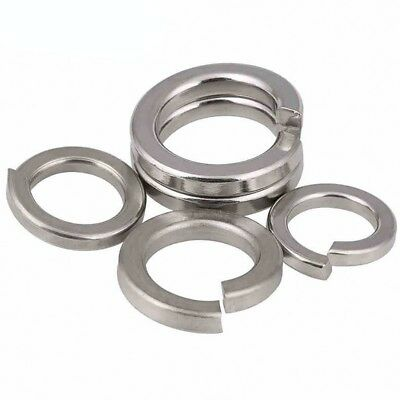 A2/A4 Stainless Steel Metric Split Lock Spring Washers All Size M1.6-M24
