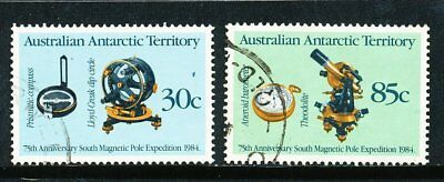 Australian Antarctic Territory 1984 Magnetic Pole Expedition, 2 stamps, used