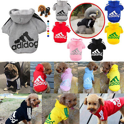 S-XXL Warm Winter Casual Adidog Pet Dog Clothes Warm Hoodie Coat Jacket Clothing