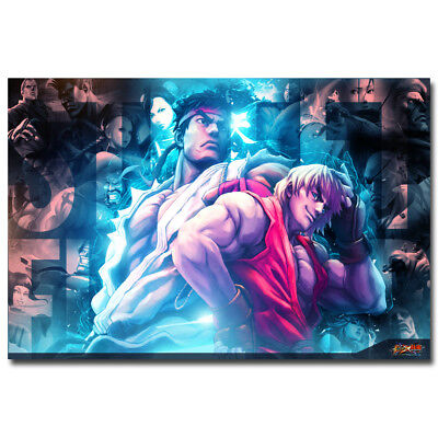 Street Fighter V Game Canvas Poster Art Prints 8x12 24x36 inch Wall Decoration
