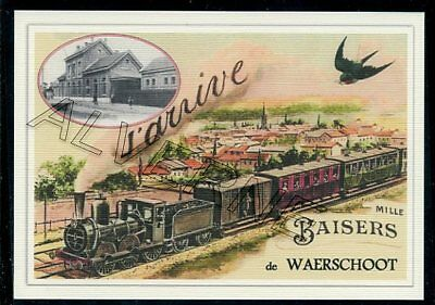 WAERSCHOOT  - train souvenir creation moderne - serie limitee numerotee