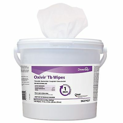 Diversey 5627427 Oxivir TB Disinfectant Wipes  11 x 12  White  160Bucket  4