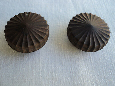 Pair Of Vintage Radio Bakelite Knobs.