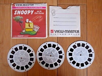 Snoopy And The Red Baron Viewmaster Reels Vintage 1969 Set B544 Rare  (797)