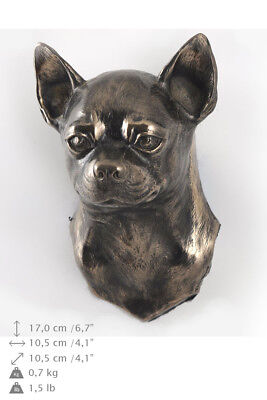 Chihuahua, dog statuette to hang on the wall, Art Dog Limited Edition, USA