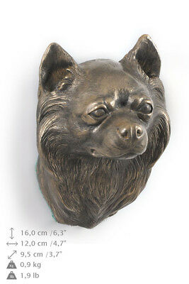 Chihuahua Long Haired, statuette to hang on the wall,Art Dog Limited Edition,USA