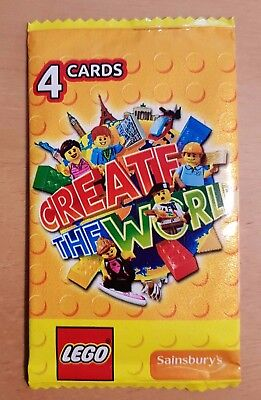 15 x LEGO packs Create The World collectors Sainsbury's cards