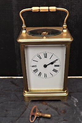 Carriage Clock strikes the hours and half hours in perfect working order