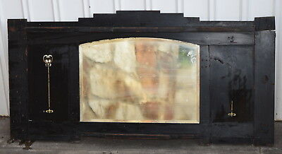 Old OverMantle Fireplace Mantle with Bevelled Edge Mirror Deco Pattern ADELAIDE