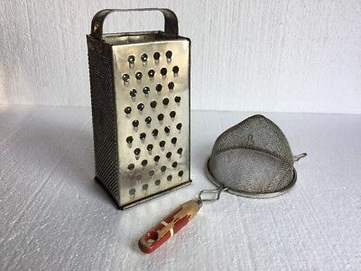 Vintage Cheese Grater And Strainer