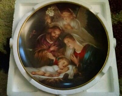 Bradford Exchange An Angels message promise of a savior Christmas plate