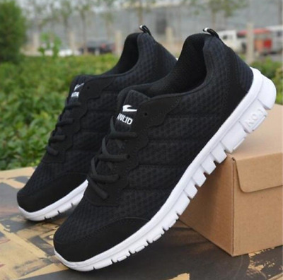 Men's Outdoor sports Breathable Casual Sneakers running Shoes Black US 10
