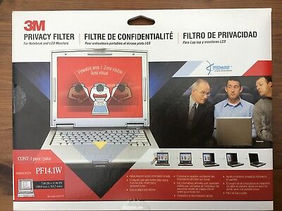 "Pf14.1W 3M 14.1"" Widescreen Laptop Privacy Filter - New"