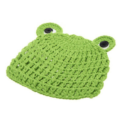 SS Baby Froglet Knitting Hat Photography Props for 0-6 Month Newborn