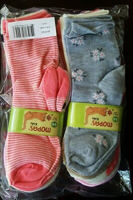Lot of 12 pairs toddler and small girls mopas crew sock size 6-8
