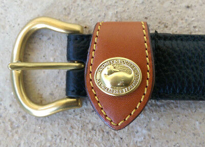 "VTG* 1980's* Dooney and Bourke* black leather belt* size S* 26-28"" EUC*"