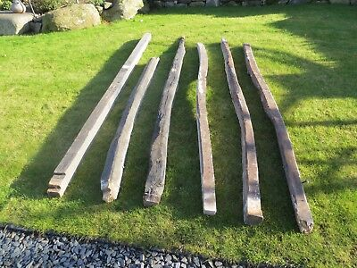 RECLAIMED VINTAGE ANTIQUE OAK BEAMS JOISTS LINTELS CIRCA 1800's price per beam