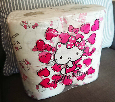 Hello Kitty Toilet Paper Tissue 4 Rolls Pack - Limited Edition
