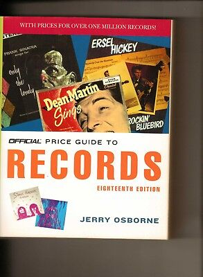 Official Price Guide To Records 18Th Edition-770 Pgs.-Osborne 2007 Mint