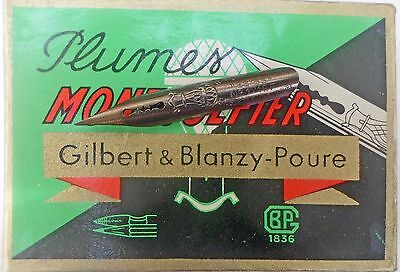 An unopened vintage box Gilbert & Blanzy-Poure MONTGOLFIER 171 EF nibs
