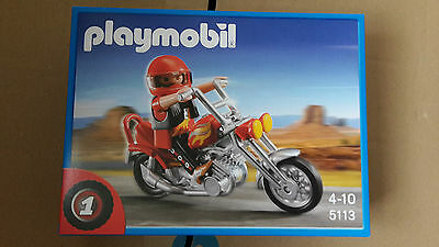 playmobil 5113 easy rider chopper biker motorrad eur 8. Black Bedroom Furniture Sets. Home Design Ideas