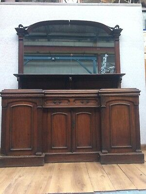 Antique Victorian Large Mirrored Sideboard