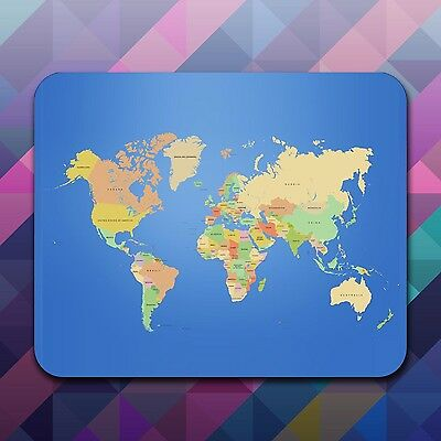 World Map PC Computer Mouse Mat Gaming Apple Holiday Earth Google Planet 5mm Pad