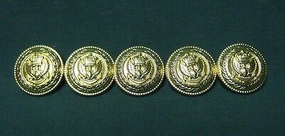 Lot Of 10 Vintage Nos Military Brass Uniform/blazer Buttons Eagle Crown Anchor