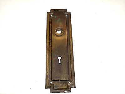 Antique Brass Arts And Crafts Larger Door Knob Back Plate