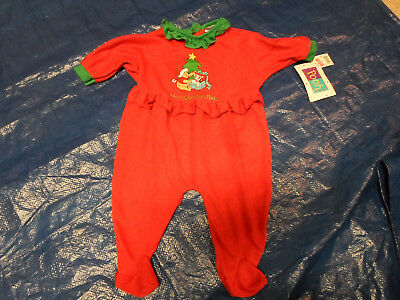 VINTAGE Winnie The Pooh Christmas Holiday One Piece Size Medium 12-18 Lbs NEW