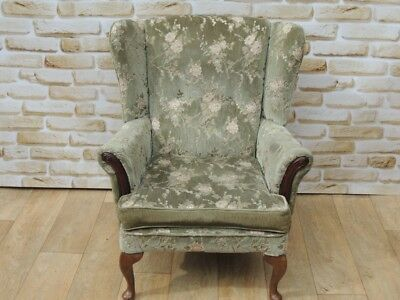 HIgh Back Queen Anne armchair PRICED EACH x 8 chairs availabl(Delivery possible)