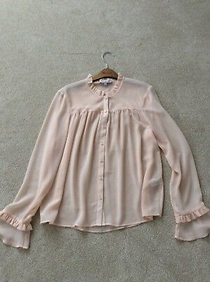 M&S Limited collection Ladies pink blouse - Size 12