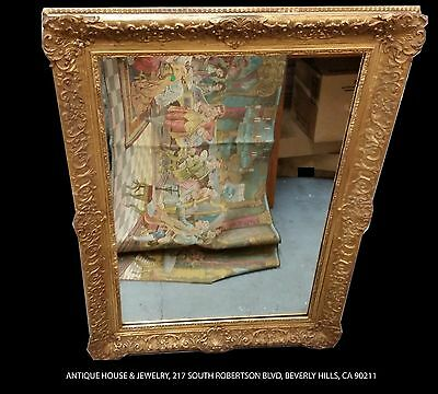 Antique Gold Leaf Mirror Frame & Mirror - Handmade