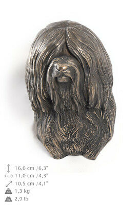 Tibetan Terrier, dog statuette to hang on the wall, Art Dog Limited Edition, USA