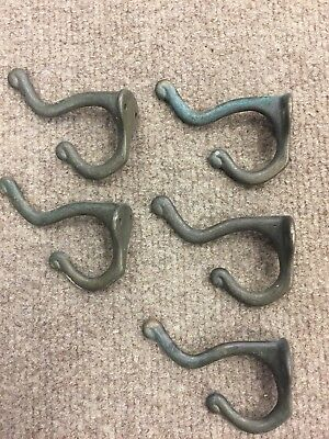 antique vintage  brass coat hat hook hall tree hooks