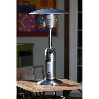 FIRE SENSE STAINLESS Steel Table Top Patio Heater New BTUs - 4 foot stainless steel table