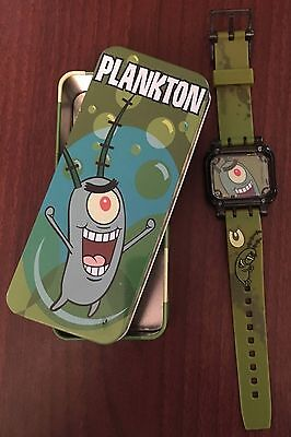 "Burger King SpongeBob SquarePants ""Plankton"" Wrist Watch in Collector Tin"