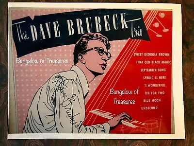 Jazz pianist DAVE BRUBECK signed 11 x 8.5 color photo
