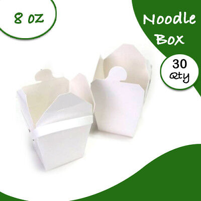 Chinese Party Noodle Box White Noodle Boxes Cardboard 8 Oz 30 pc Small