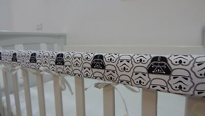Cot Rail Cover Star Wars Crib Teething Pad  Darth Vader Storm Troopers x 1