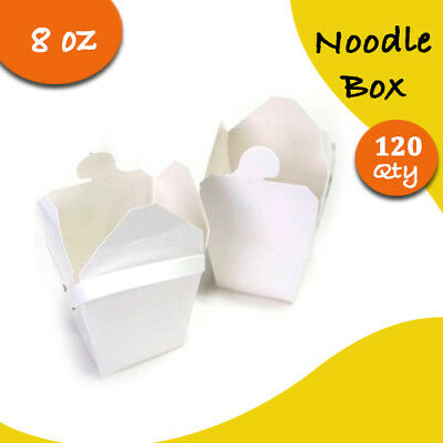 Party Noodle Box White Noodle Boxes Cardboard 8 Oz 120 pc Small Chinese Noodle B