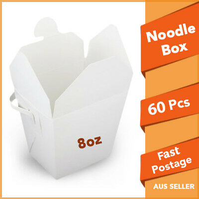 Party Noodle Box White Noodle Boxes Cardboard 8 Oz 60 pc Small Chinese Noodle B